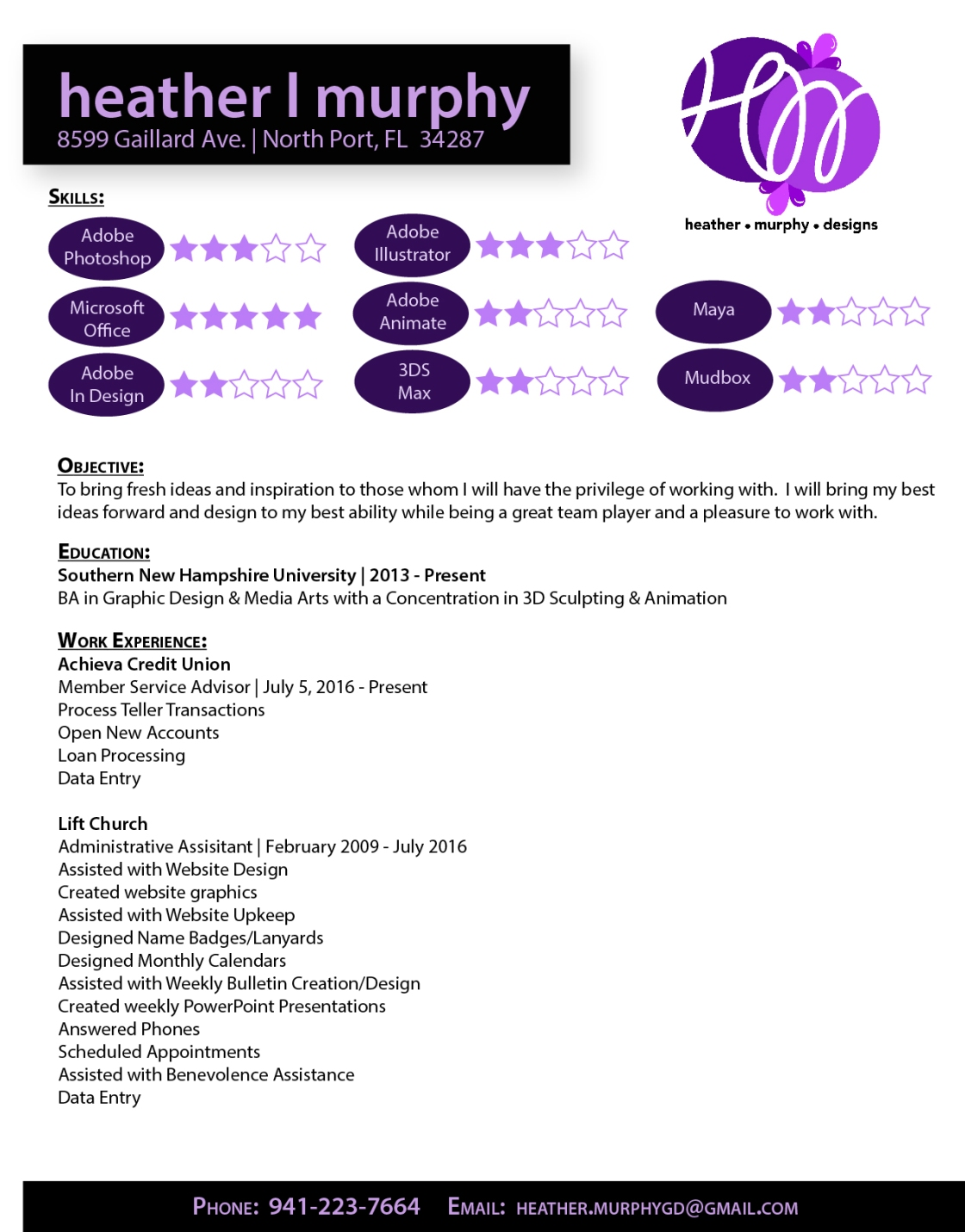 digital resume heather murphy